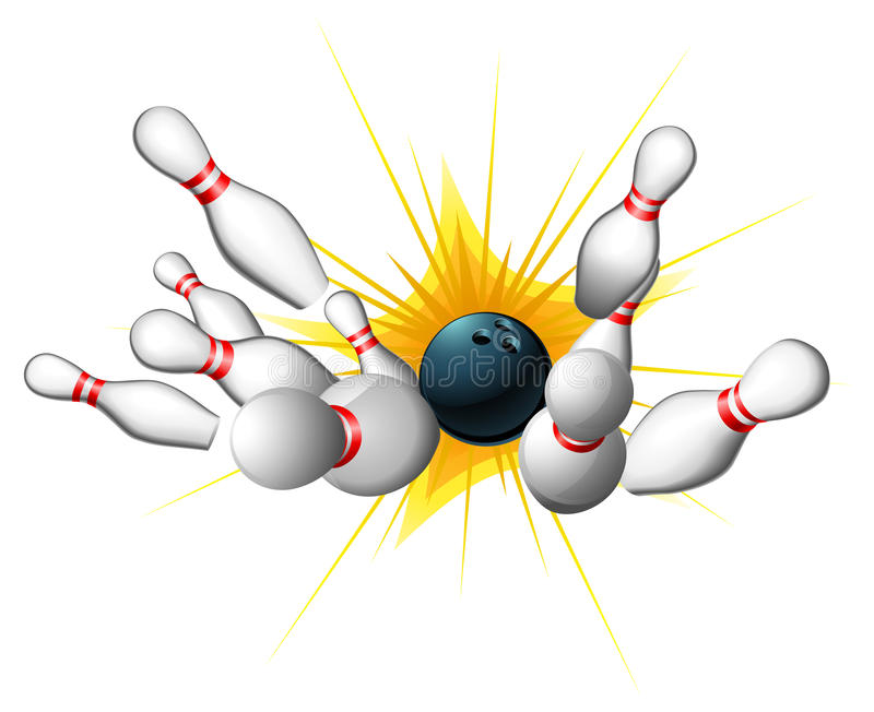Bowling Strike royalty free illustration