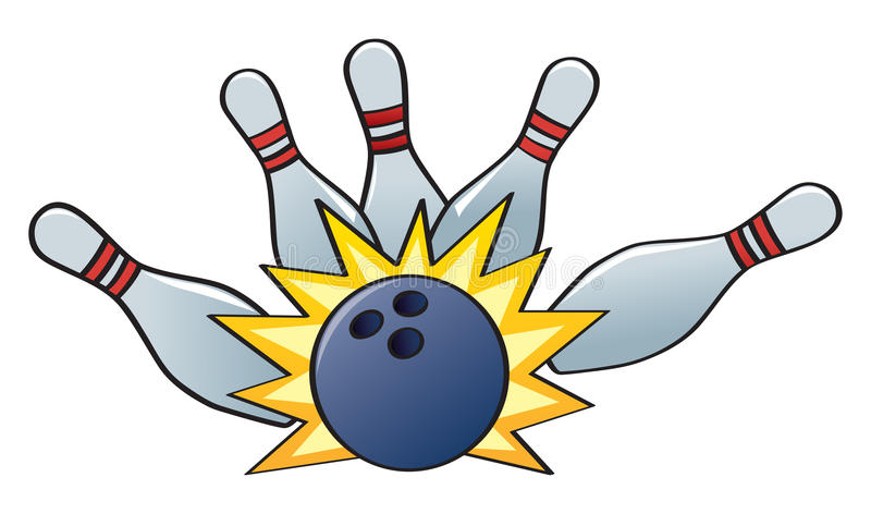 Download Bowling Strike stock vector. Image of knock, alley, pins - 23579106