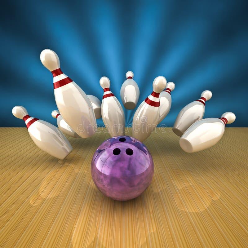 Download Bowling strike stock illustration. Illustration of striking - 24557116