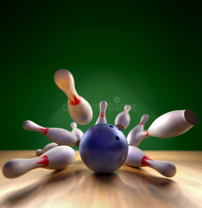 Bowling Strike royalty free stock image
