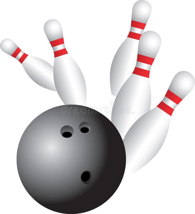 Bowling take down vector illustration
