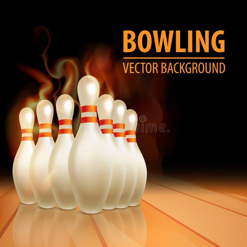 Bowlingbakgrund royaltyfri illustrationer