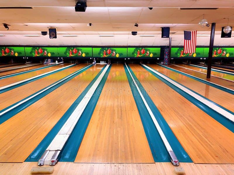 Bowlingbana i Förenta staterna royaltyfri bild