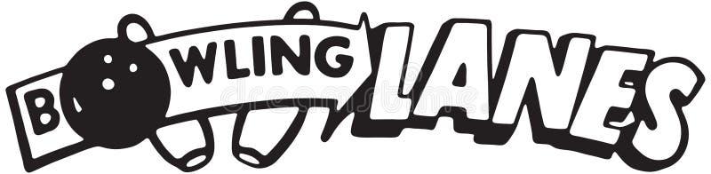Bowlinggränder vektor illustrationer