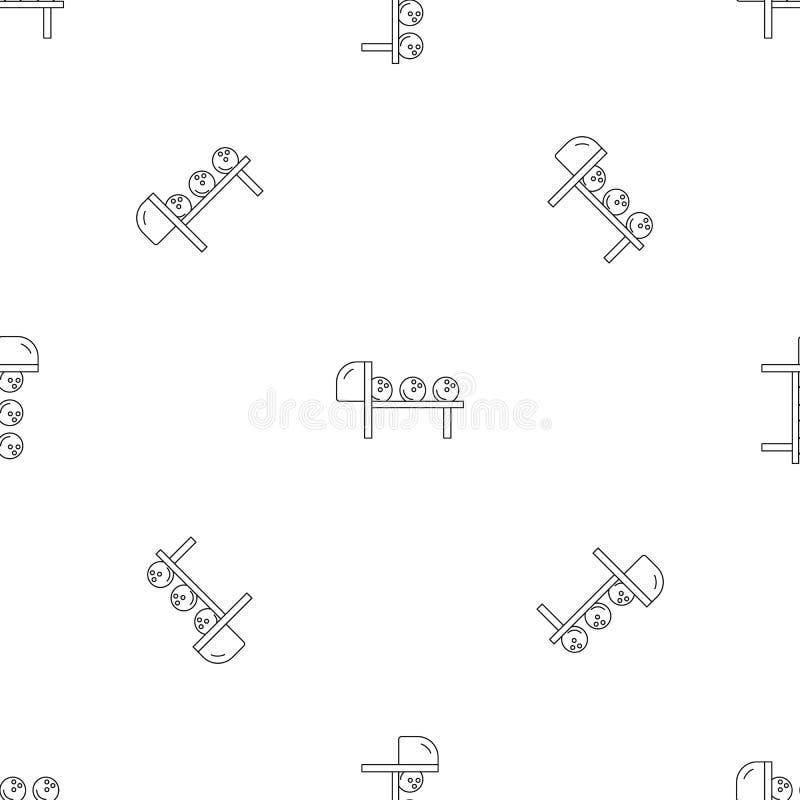 Bowlingklot mönstrar den sömlösa vektorn vektor illustrationer