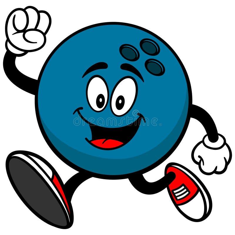 Bowlingkugel-Betrieb stock abbildung