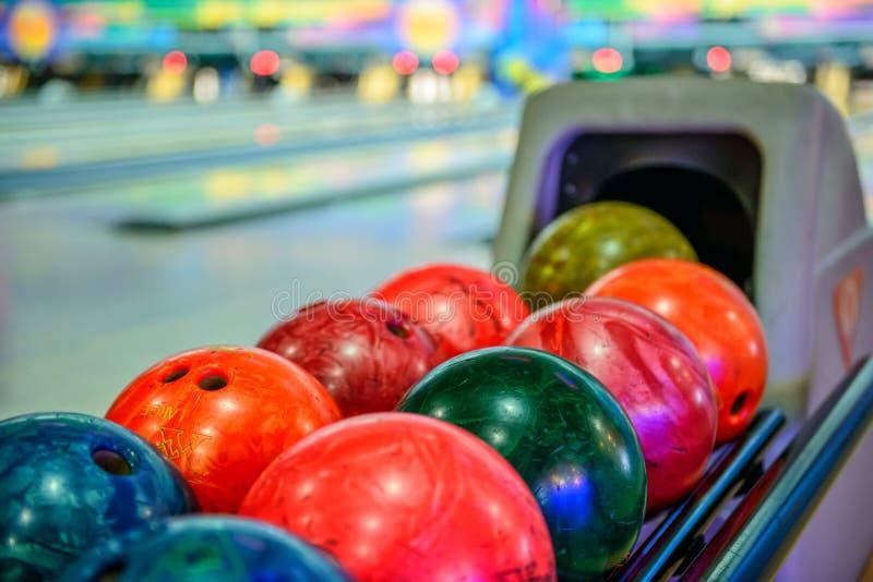 Bowlingkugeln stockfoto