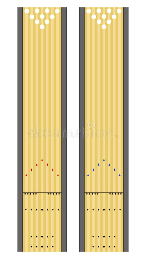bowlinglanes stock illustrationer