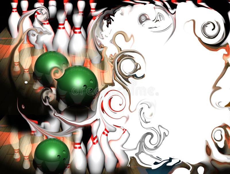 bowlingramdeltagare royaltyfri illustrationer