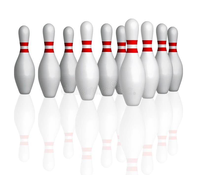Bowlings pins stock illustration