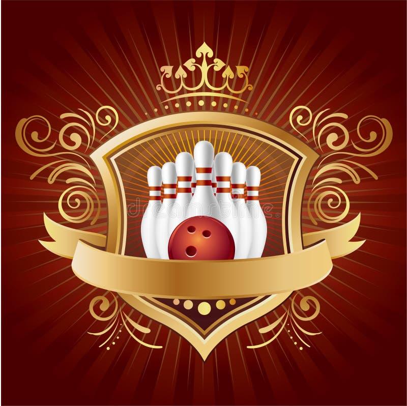 bowlingsköld stock illustrationer