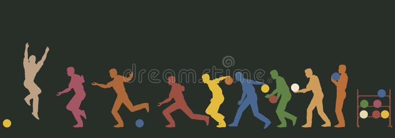 Bowlingspeler royalty-vrije illustratie