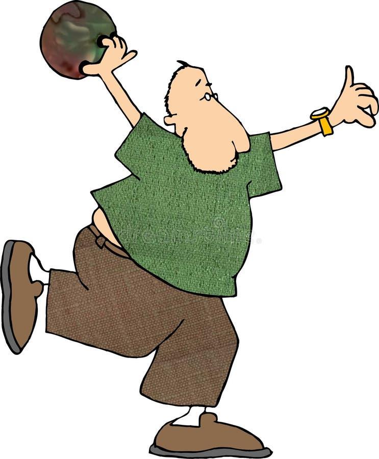 Bowlingspeler stock illustratie