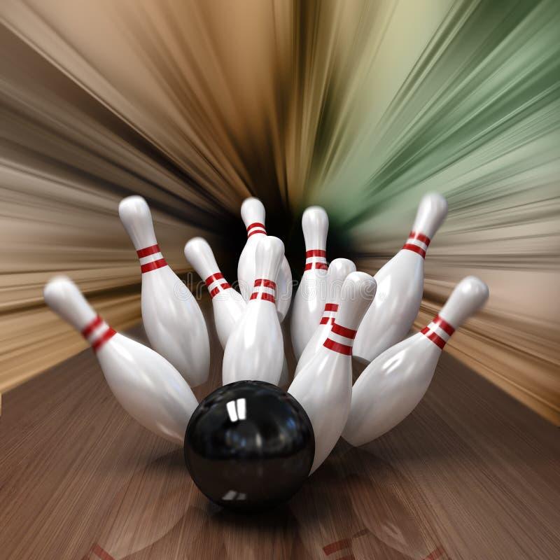 Bowlingspiel lizenzfreie abbildung