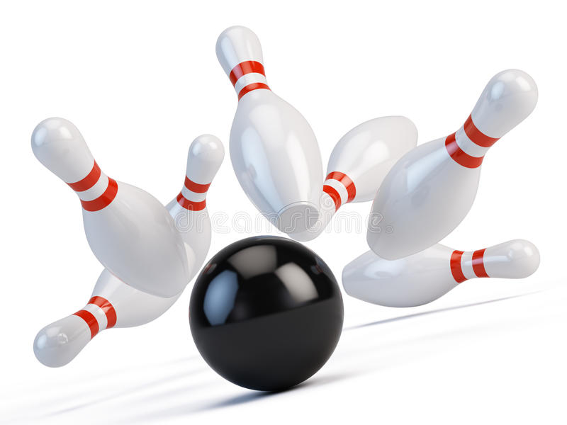 bowlingspiel stock abbildung