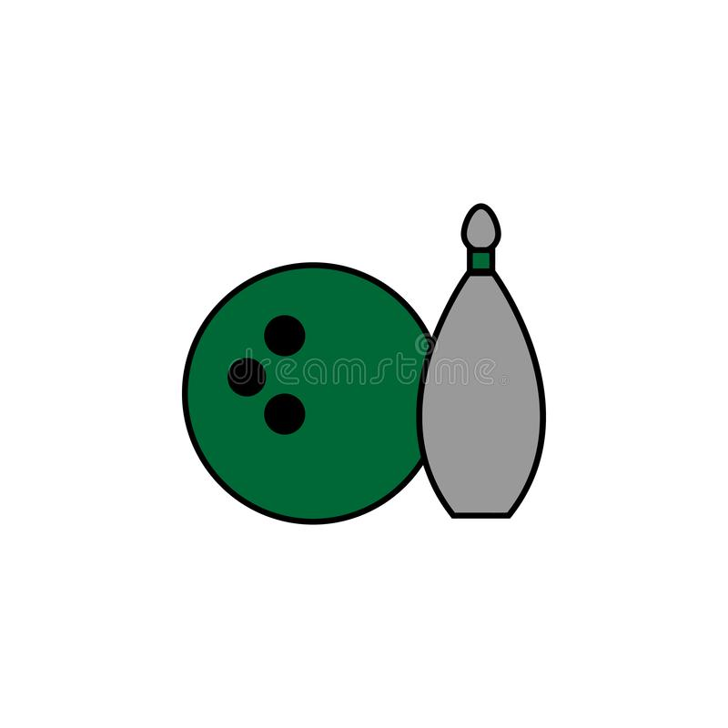 Bowlingspiel, Freizeit Element der Kasinoikone für bewegliche Konzept und Netz apps Ausführliches Bowlingspiel, Freizeit kann für stock abbildung