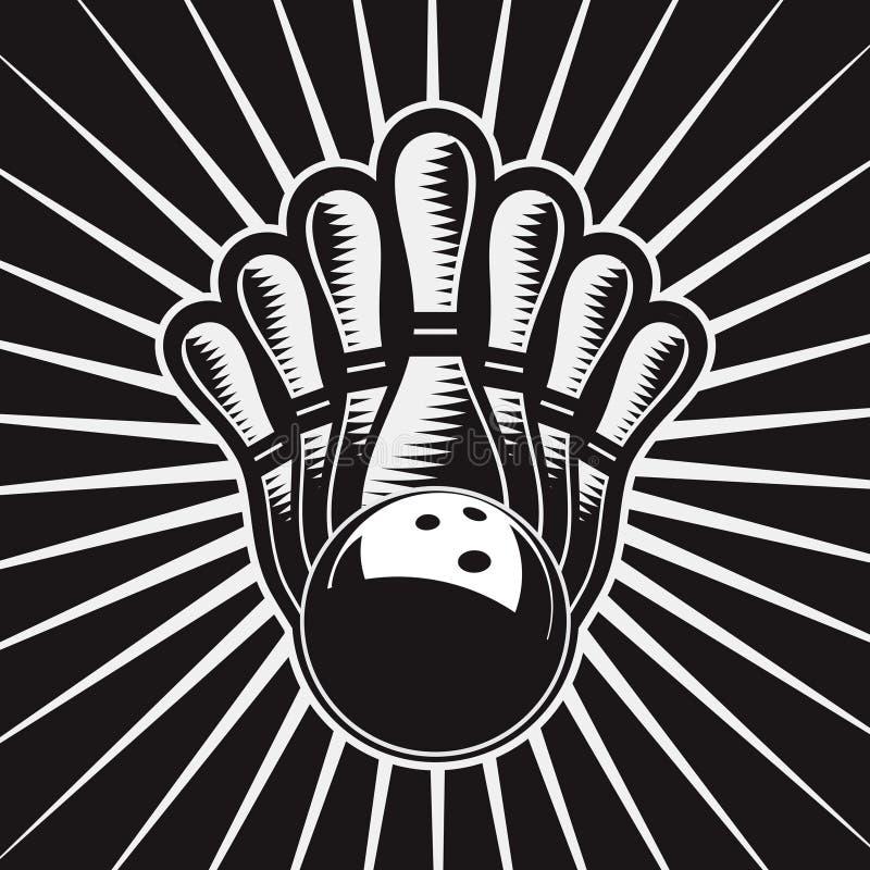 Bowlingspiel-Kugel-Auslegung-Element-Set 4 vektor abbildung