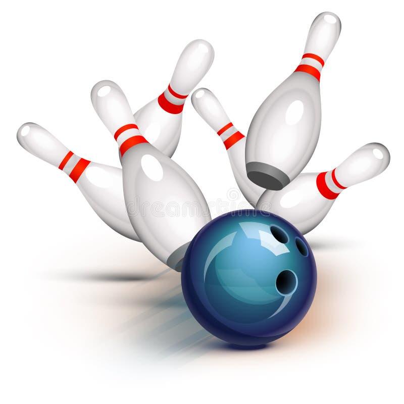 Bowlingspiel-Spiel (Vorderansicht) lizenzfreie abbildung