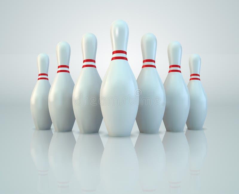 Bowlingspiel-Stifte lizenzfreie abbildung