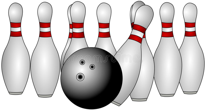 Bowlingspiel-Stifte stock abbildung