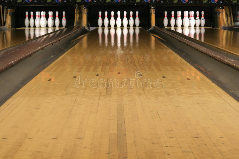 Bowlingspiel-Wege #2 stockfotos