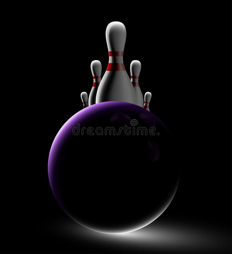 Bowlingspielhintergrund stock abbildung