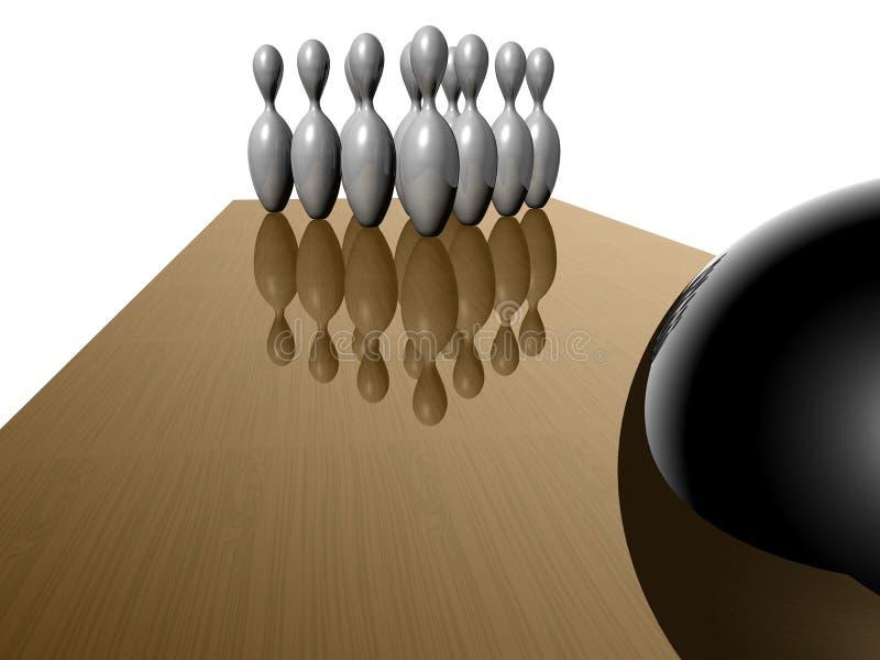 Bowlingspielkugel lizenzfreie abbildung