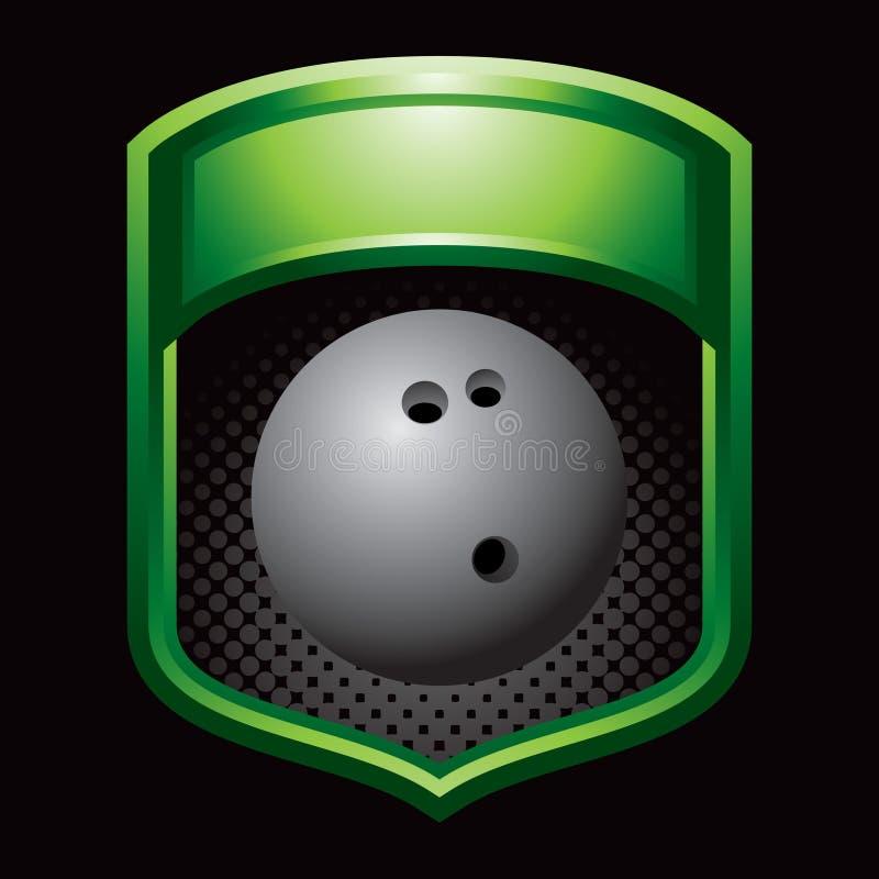 Bowlingspielkugel in der grünen Bildschirmanzeige stock abbildung