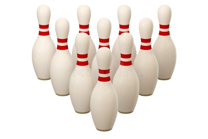 BowlingspielPin lizenzfreie abbildung