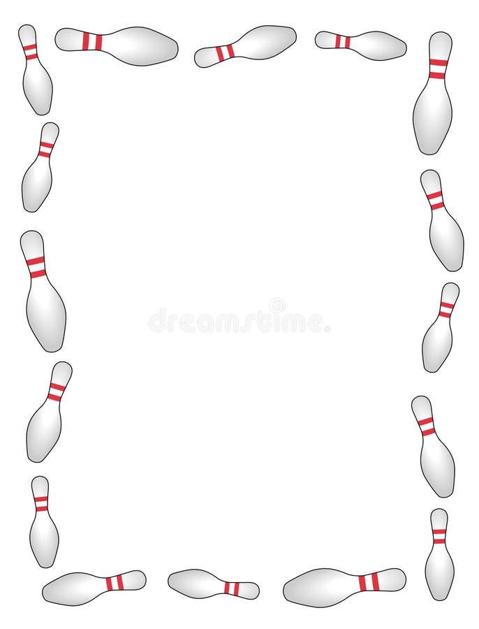 Bowlingspielrand/-feld lizenzfreie abbildung