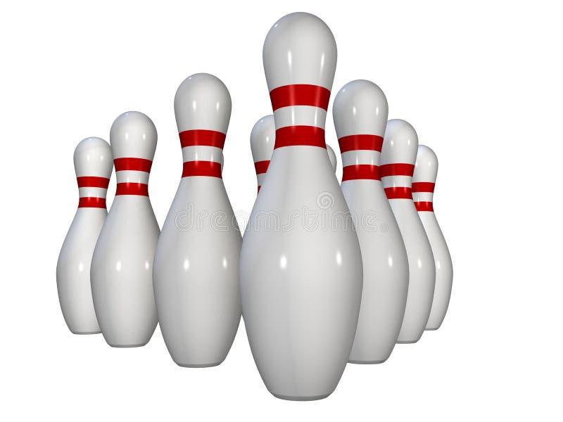 Bowlingspielstifte stock abbildung