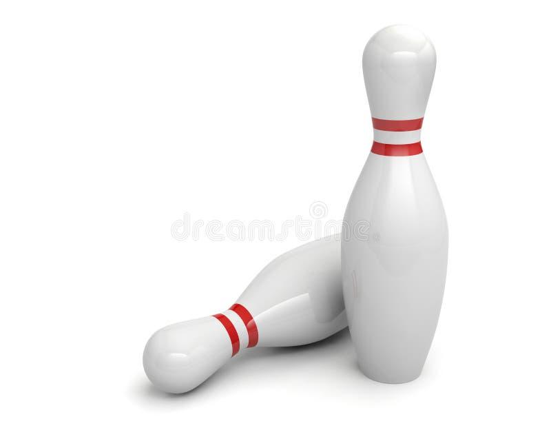 Bowlingspielstifte 3D stock abbildung