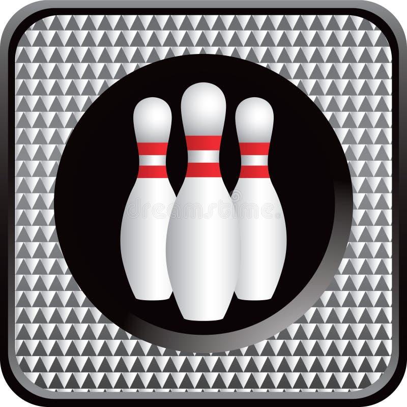 Bowlingspielstifte von checkered Web-Taste vektor abbildung