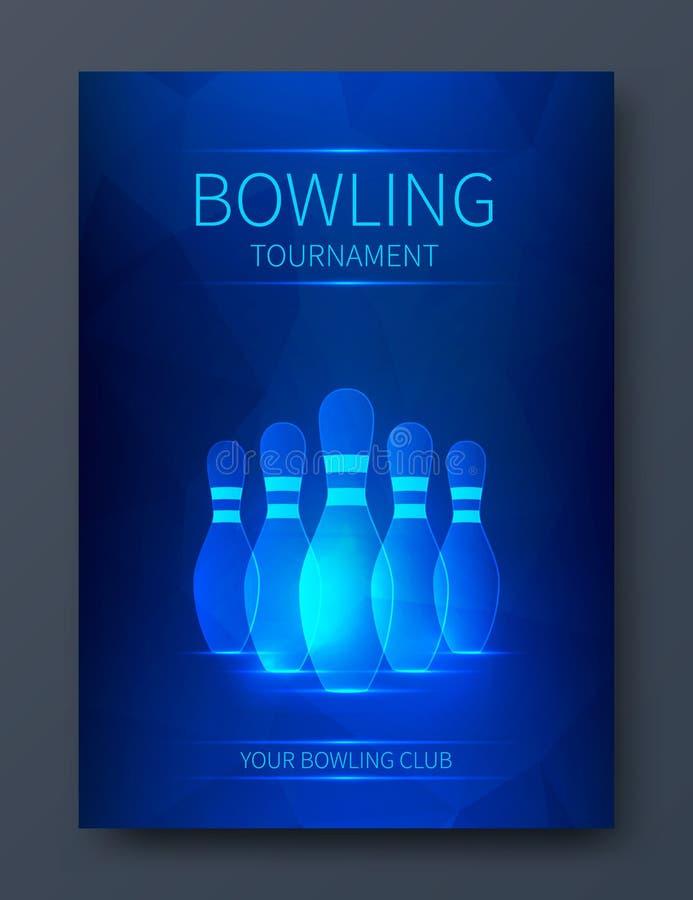 Bowlingspielturnierplakat stock abbildung