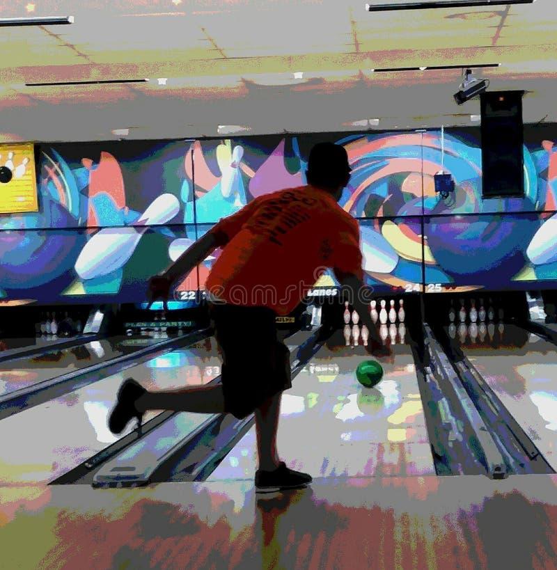 Bowlingspielverbündetspaß stockbild