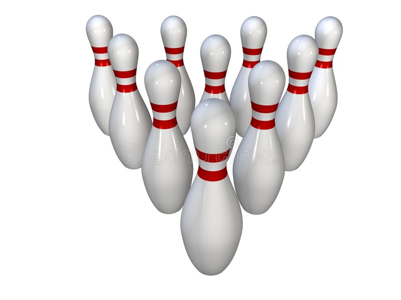 bowlingstift vektor illustrationer