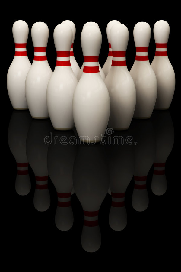 bowlingstift stock illustrationer