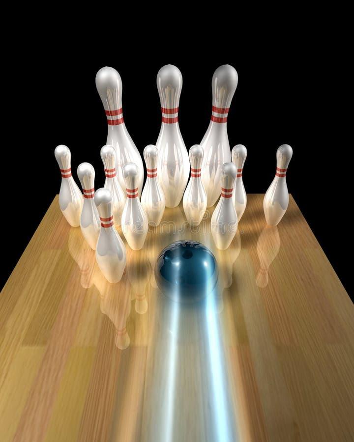 bowlingstift royaltyfri illustrationer