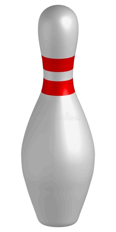 bowlingstift stock illustrationer