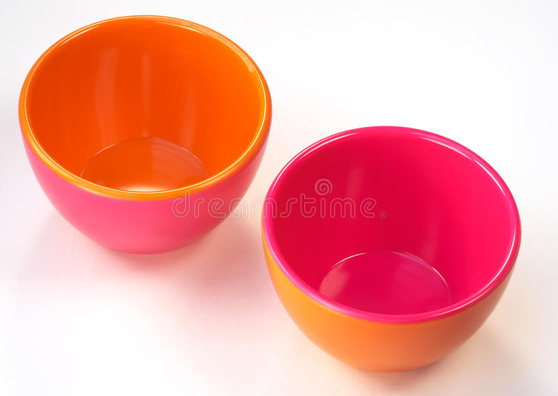 Download Bowls Of Opposite Colors Stock Photos - Image: 21366243
