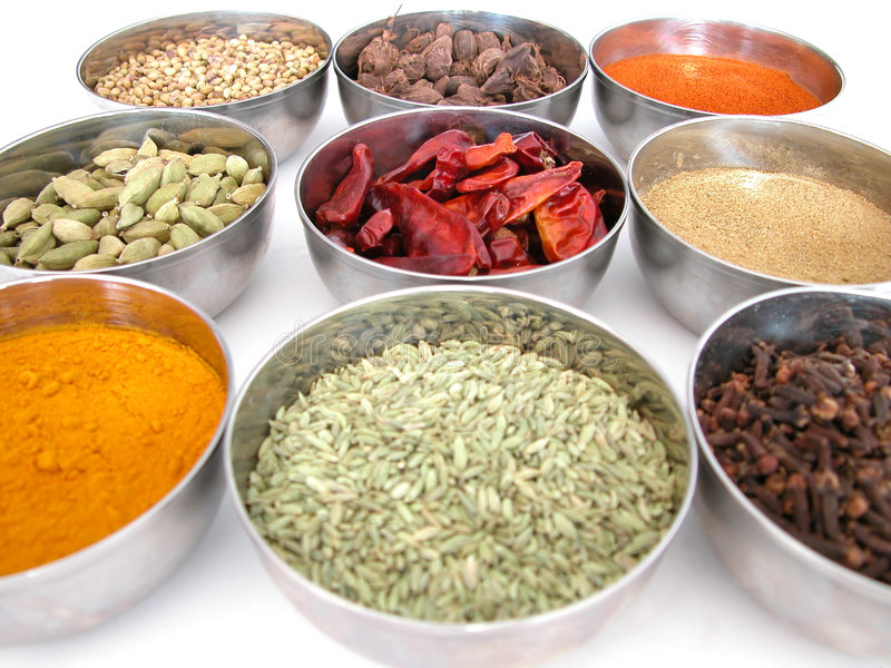Download Bowls of spices stock image. Image of color, chilli, ground - 1309495