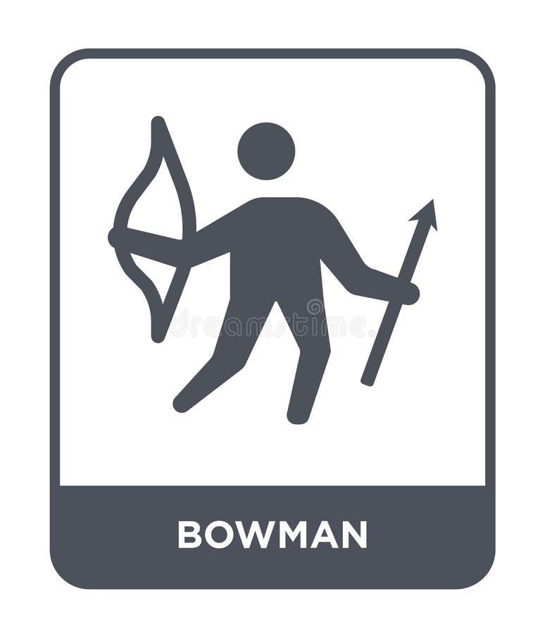 bowman ikona w modnym projekta stylu bowman ikona odizolowywająca na białym tle bowman wektorowej ikony prosty i nowożytny płaski ilustracji