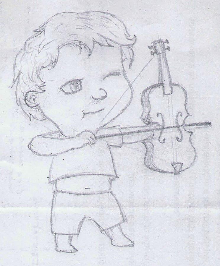 Bowmen, sketch stock photo