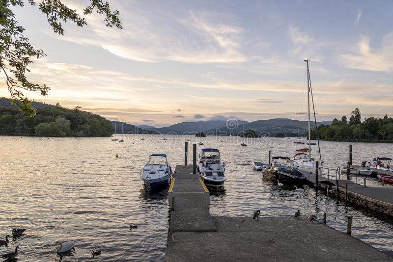 Bowness на районе Cumbria Англии Великобритании озера Windermere стоковые изображения