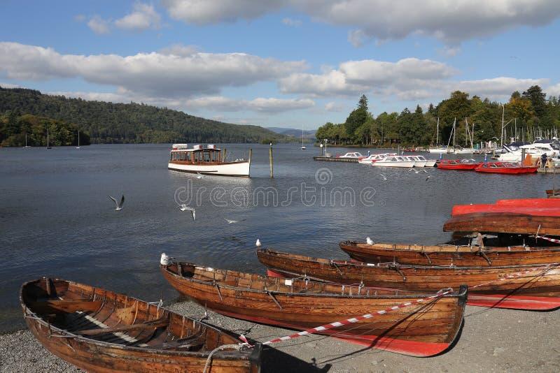 Bowness - lago Windermere - distrito do lago - Inglaterra fotos de stock