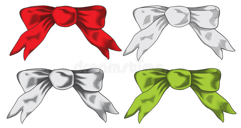 Download Bows stock vector. Image of love, label, ribbon, present - 11334327