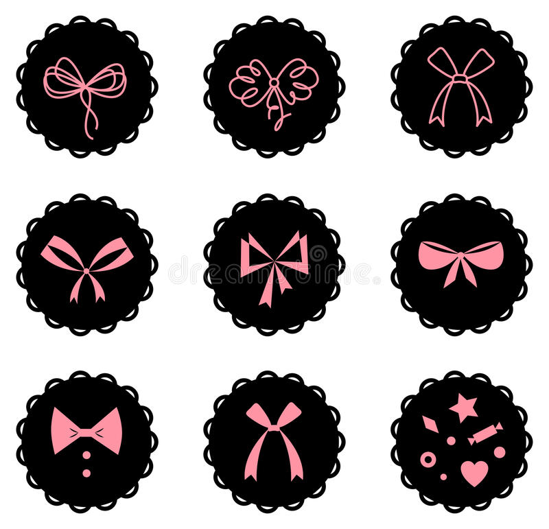 Download Bows stock vector. Image of shiny, icon, spiral, silk - 25191340