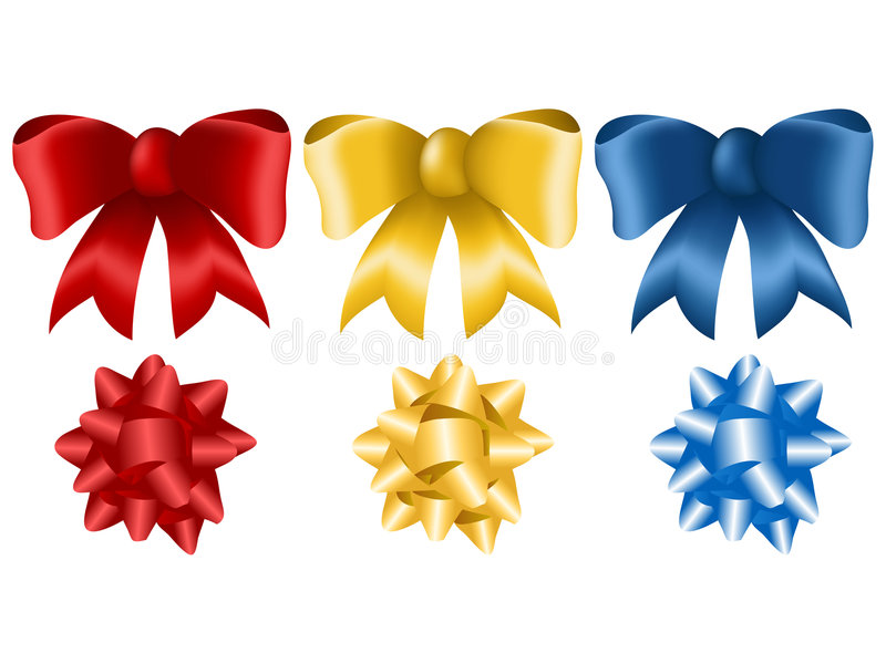 Download Bows stock vector. Image of isolated, shape, celebration - 3979672