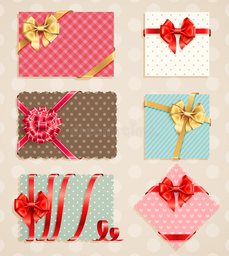 Bows Collection With Vintage Stock Images
