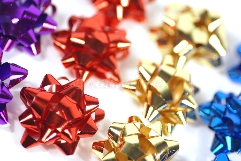 Bows in a row royalty free stock photo